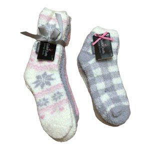 BUNDLE! Cuddle Duds Womens 2 Sets of Lounge Socks